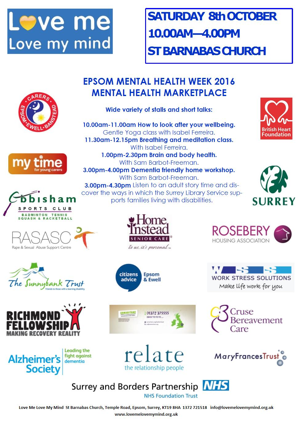 Mental Health Market Place 2016 poster